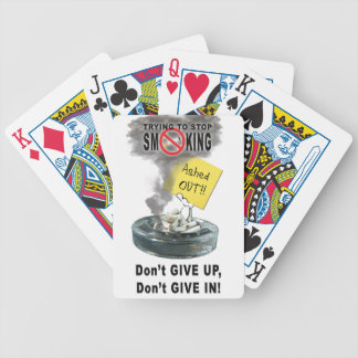 Ashed Out Bicycle Playing Cards