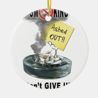 Ashed Out Ceramic Ornament