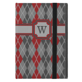 Ashes and Embers Argyle iPad Powis Case Covers For iPad Mini