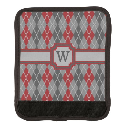 Ashes and Embers Argyle Luggage Handle Wrap
