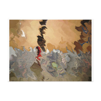 """Ashes to ashes 318 aka """"Red Man Harkening: Canvas Print"""