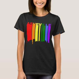Asheville North Carolina Gay Pride Skyline T-Shirt