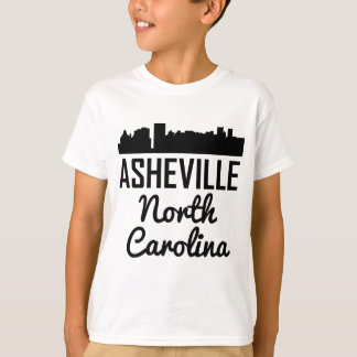 Asheville North Carolina Skyline T-Shirt