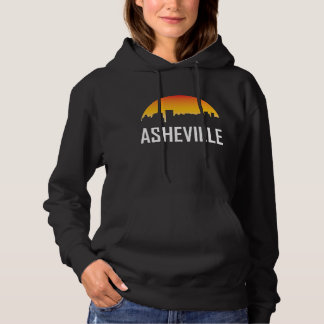 Asheville North Carolina Sunset Skyline Hoodie