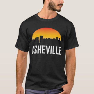 Asheville North Carolina Sunset Skyline T-Shirt
