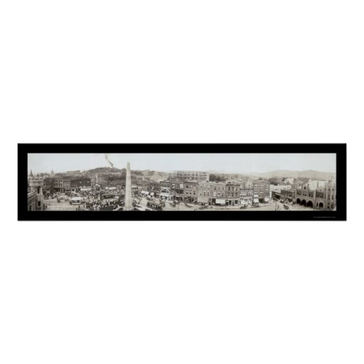 Asheville Pack Square Photo 1910 Poster