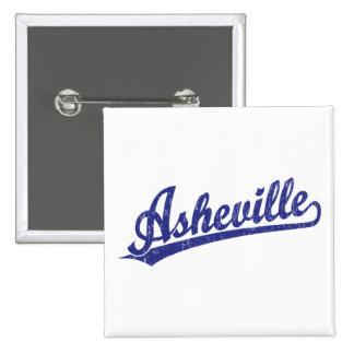 Asheville script logo in blue button