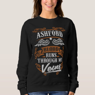 ASHFORD Blood Runs Through My Veius Sweatshirt