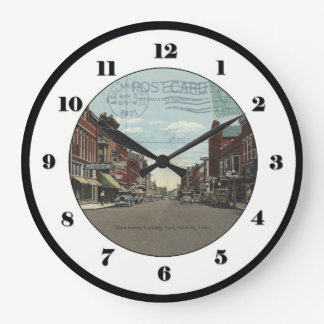 Ashland, Ohio Post Card Clock - Main St 1931
