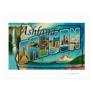 Ashland, Oregon - Large Letter Scenes Postcard