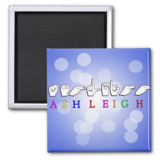 ASHLEIGH FINGERSPELLED ASL NAME SIGN MAGNET
