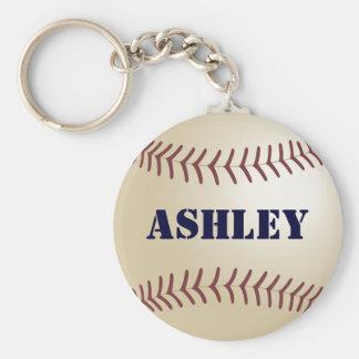 Ashley Baseball Keychain by 369MyName