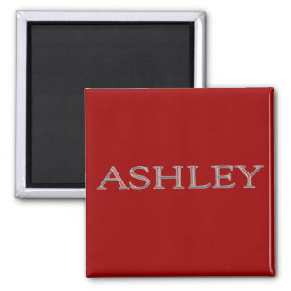 Ashley Personalized Name Square Magnet