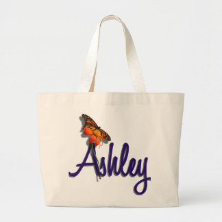 Ashley with Butterfly Large Tote Bag