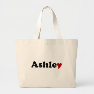 Ashley with Heart Large Tote Bag