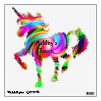 Ashley's Room Colorful Unicorn Wall Decal