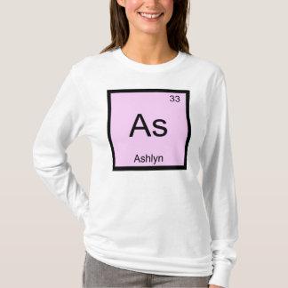 Ashlyn Name Chemistry Element Periodic Table T-Shirt