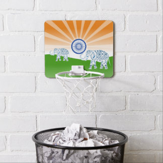 """Ashoka Chakra"" sun Mini Basketball Backboard"