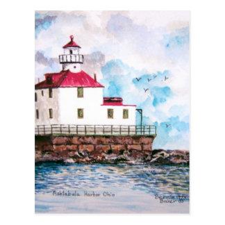 Ashtabula lighthouse 1995 postcard