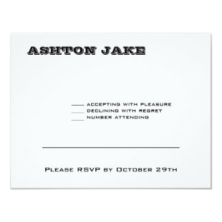 Ashton Bar Mitzvah RSVP Card