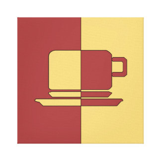 Ashton Burgundy and Gold Cup Canvas Print