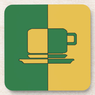 Ashton Dark Green and Gold Cup Coaster