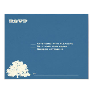 Ashton Tree Bar Mitzvah Wedding RSVP Card