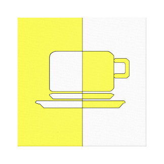 Ashton Yellow and White Cup Canvas Print