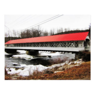 Ashuelot Covered Bridge in Winter Postcard