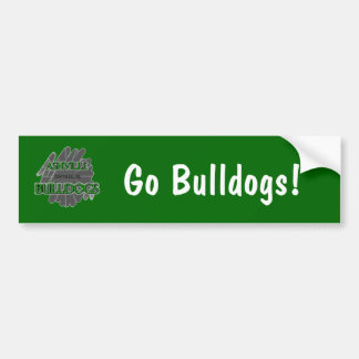 Ashville High School Bulldogs - Ashville, AL Bumper Sticker