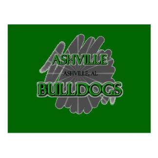 Ashville High School Bulldogs - Ashville, AL Postcard