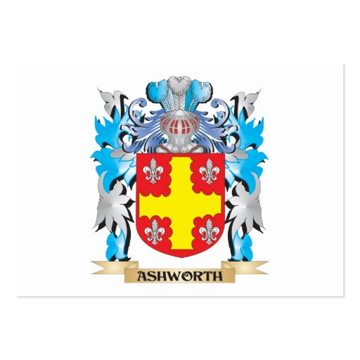 Ashworth Coat Of Arms Business Card Templates