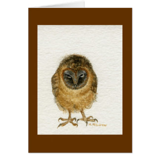 """Ashy Faced Barn Owl"" Card"