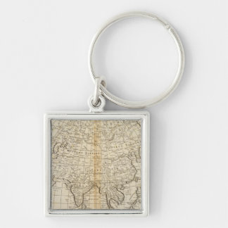 Asia 23 Silver-Colored square keychain