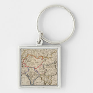 Asia 26 Silver-Colored square keychain