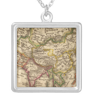 Asia 3 square pendant necklace