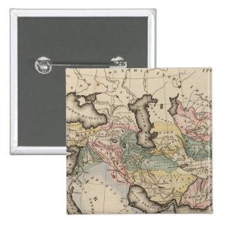Asia Atlas Map 2 Inch Square Button