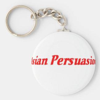 Asia Basic Round Button Keychain