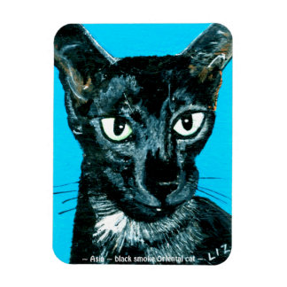 ~Asia ~ black smoke Oriental cat ~ Magnet