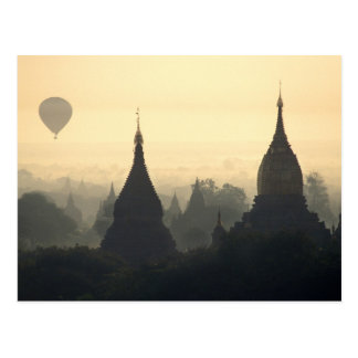 Asia, Burma, (Myanmar), Pagan (Bagan) Hot Air Postcard