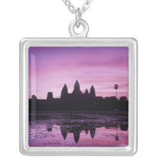 Asia, Cambodia, Siem Reap, Angkor Wat (b. 12th 2 Silver Plated Necklace
