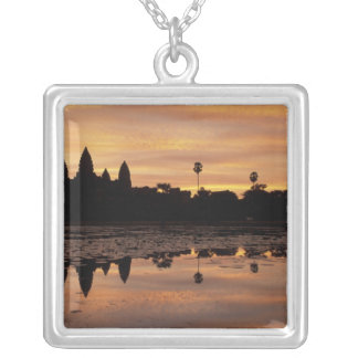 Asia, Cambodia, Siem Reap, Angkor Wat (b. 12th Silver Plated Necklace