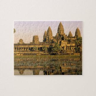 Asia, Cambodia, Siem Reap. Angkor Wat. Jigsaw Puzzle