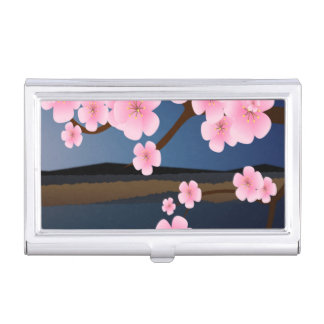 Asia Cherry Blooms Case For Business Cards