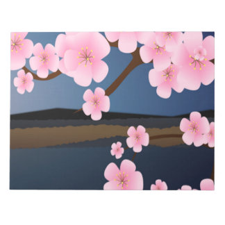 Asia Cherry Blooms Notepad