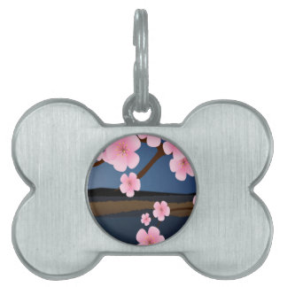 Asia Cherry Blooms Pet ID Tag