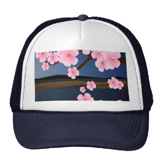 Asia Cherry Blossom Trucker Hat