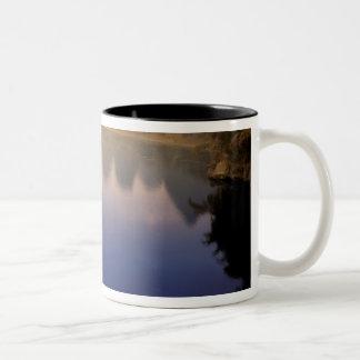 Asia, China, Guangxi Province, Yangshuo. Lone Two-Tone Coffee Mug