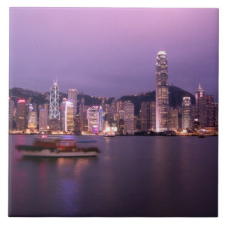 Asia, China, Hong Kong, city skyline and Tiles