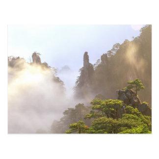 Asia, China, Huanshan. The Yellow Mountain in Postcard